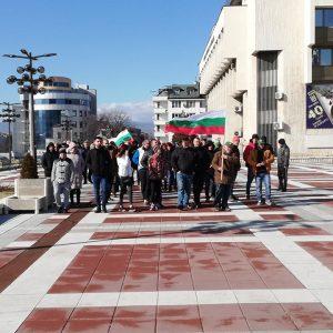 Около 300 души от Благоевград излязоха в подкрепа на кмета Томов